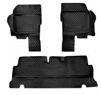 Резиновые глубокие коврики УАЗ Hunter 2003-