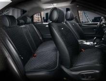 Универсальные автомобильные накидки PALERMO черные, комплект.