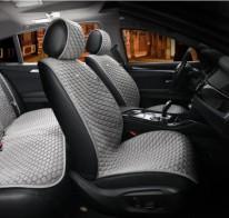 Универсальные автомобильные накидки PALERMO серые, передние.