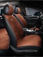 Универсальные автомобильные накидки PALERMO темно-коричневые, передние.