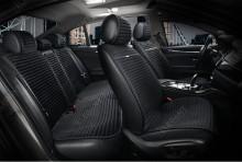 Универсальные автомобильные накидки NAPOLI черные, комплект.