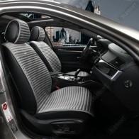 Универсальные автомобильные накидки NAPOLI серые, передние.