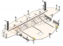 Кольчуга Защита двигателя, коробки передач, радиатора Hyundai I-30 2020-
