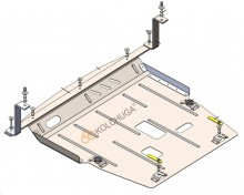 Кольчуга Защита двигателя, коробки передач Ford Ecosport 2020- АКПП