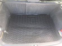 AvtoGumm Резиновый коврик в багажник VW Golf 5-6 HB (полноразмерная запаска, верхний ярус)
