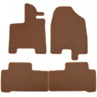 Коврики в салон Acura MDX 2013- (коричневые)