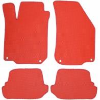 Коврики в салон AUDI TT 2006-2014 (красные)