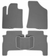 Коврики в салон Hyundai Santa Fe 2006-2010 (серые)
