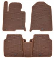 Коврики в салон Hyundai Sonata LF 2014-2019 USA и Корея (коричневые)