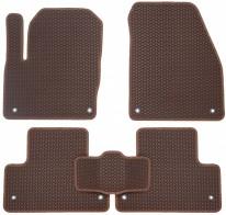 Коврики в салон Land Rover Evoque 2011-2018 (коричневые)
