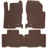 Коврики в салон Lexus NX 300h 2014- (коричневые)