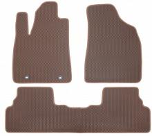 Коврики в салон Lexus RX 350 2009-2015 (коричневые)