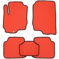 Коврики в салон Mitsubishi Colt 2003-2012 (красные)