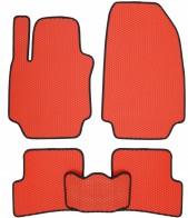 Коврики в салон Renault Clio 2005-2013 (красные)