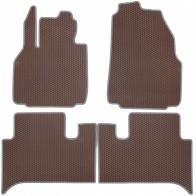 Коврики в салон Renault Scenic 2003-2009 (коричневые)