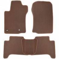 Коврики в салон Toyota Land Cruiser Prado 150 2013- (коричневые)