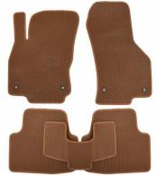 Коврики в салон Volkswagen Passat B8 2014- (коричневые)