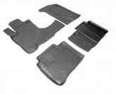 Резиновые коврики глубокие Honda CR-V 2002-2006 СЕРЫЕ