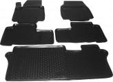 L.Locker Глубокие резиновые коврики в салон Honda Pilot 2008-2015