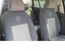 Чехлы на сиденья Volkswagen Polo Sedan (цельная) Prestige LUX