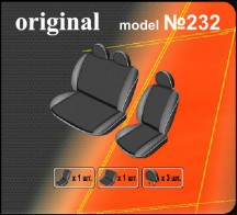 DeLux Чехлы на сиденья Mercedes Sprinter 1995-2006 (1+2)