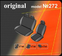 DeLux Чехлы на сиденья Opel Vivaro (1+2) 2001-2014