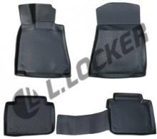 L.Locker Глубокие резиновые коврики в салон Lexus GS sedan (12-) задний привод