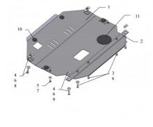Защита двигателя и коробки передач Chevrolet Captiva 2006-2011