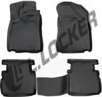 Глубокие резиновые коврики в салон MG 5 hatchback (12-) L.Locker