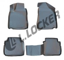 Глубокие резиновые коврики в салон MG 350 sedan (12-) L.Locker