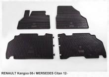 Резиновые коврики Renault Kangoo 2008- Mercedes Citan (клетка) Stingray