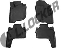 L.Locker √лубокие резиновые коврики в салон Mitsubishi Pajero Sport II (08-)