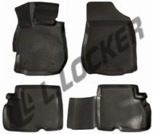 L.Locker Глубокие резиновые коврики в салон Nissan Almera IV (12-)