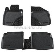 Резиновые глубокие коврики Toyota Avensis 2009- SOFT Aileron