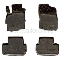 Резиновые глубокие коврики Mitsubishi Lancer X SOFT Aileron
