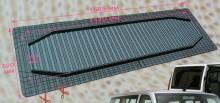 Резиновые коврики на 2 или 3 ряд сидений (52х158,5 см)