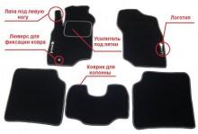 Prestige LUX Ворсистые коврики Mitsubishi Galant 1997-2002