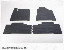 Резиновые коврики SangYong Korando 2010-