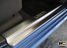 Накладки на пороги Chevrolet Lacetti