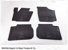 Резиновые коврики Skoda Rapid 13- Seat Toledo IV 12-