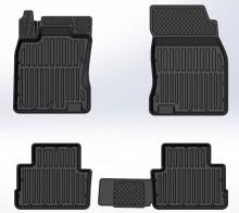 Глубокие резиновые коврики Nissan Qashqai 2014-