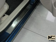 Nataniko Накладки на пороги Hyundai Accent 2006-2010 (Premium)