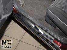 Накладки на пороги Lada Priora (Premium)