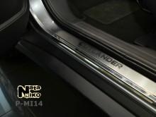 Nataniko Накладки на пороги Mitsubishi Outlender 2012- (Premium)
