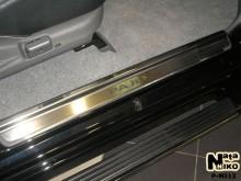 Nataniko Накладки на пороги Mitsubishi Pajero Sport 1996-2008 (Premium)