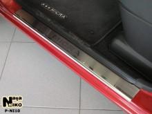Nataniko Накладки на пороги Nissan Micra 5D 2002-2010 (Premium)