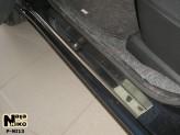 Nataniko Накладки на пороги Nissan Note 2006-2014 (Premium)