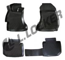 L.Locker Глубокие резиновые коврики в салон Subaru XV (11-)
