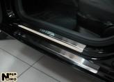 Nataniko Накладки на пороги Seat Ibiza 3-и двери 2008-2017 (Premium)