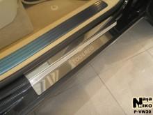 Nataniko Накладки на пороги Volkswagen Touareg 2002-2010 (Premium)